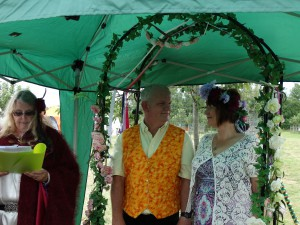 First ever Handfasting at the Healing Weekend in Somerset