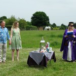 Handfasting in a field