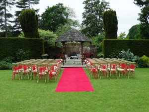Ceremony Area at Swarling Manor